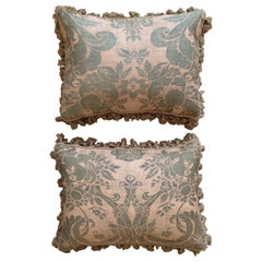 Four Cushions of Early 20th Century French Fortuny Cotton of Olympia Design