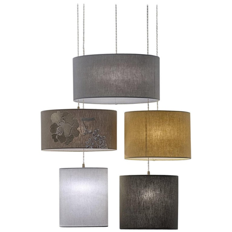 Jap ovale five light pendant lamp for sale at 1stdibs jap ovale five light pendant lamp for sale aloadofball Image collections