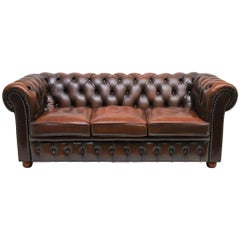 Traditional Vintage Delta Chesterfield Three and Two/Seat Settee