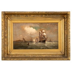 Maritime Oil Painting by American Marine Artist Marshall Johnson
