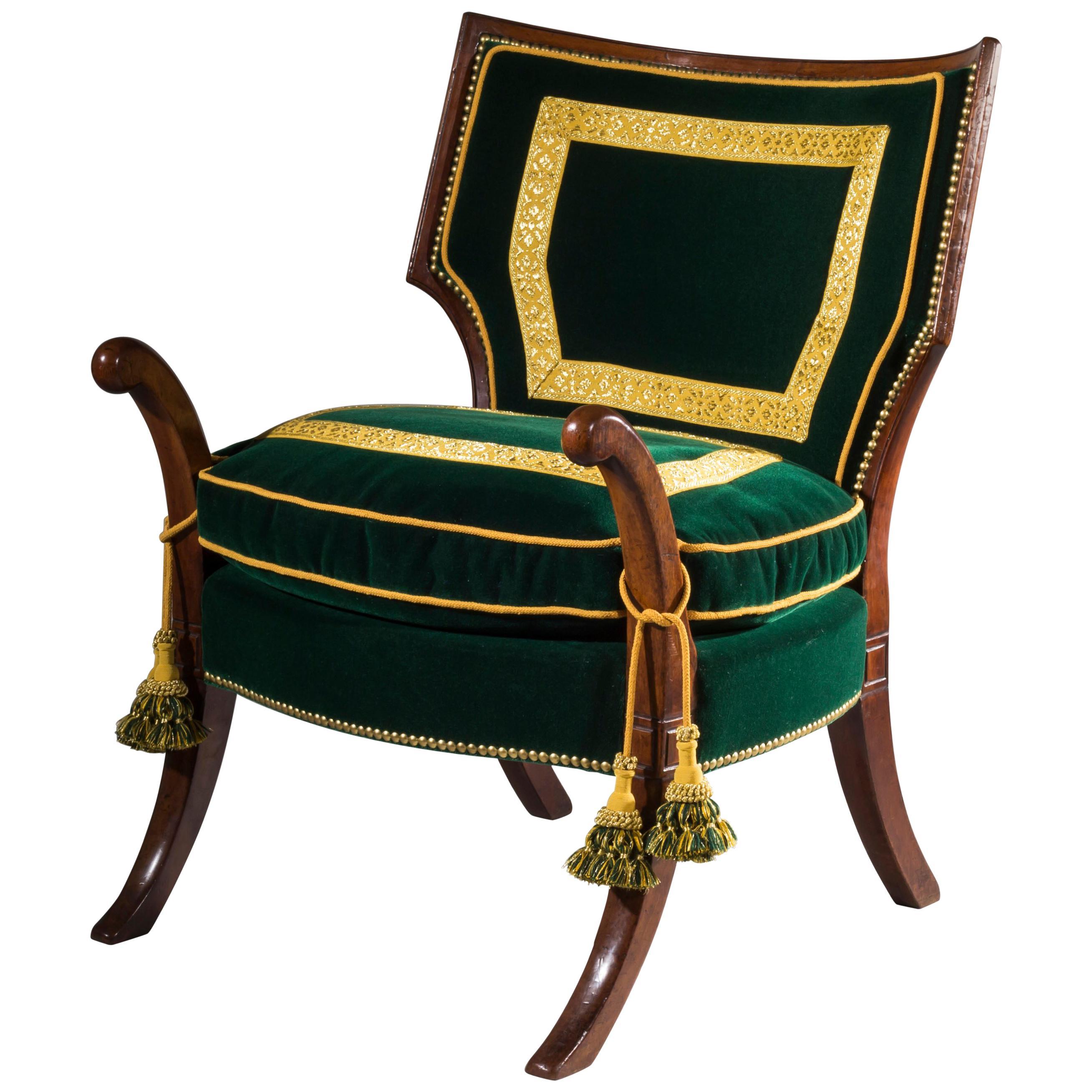 Regency Thomas Hope Greek Revival Klismos Library Chair  sc 1 st  1stDibs & English Regency Period Mahogany Armchair Designed by Thomas Hope For ...