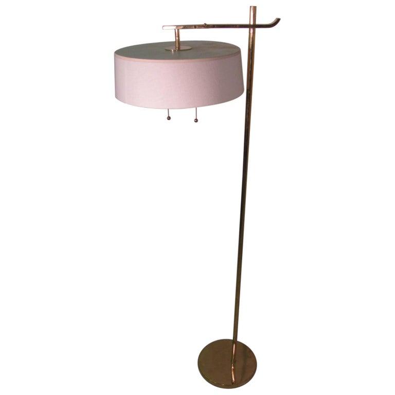 Art Deco Flip Floor Torchiere and Reading Lamp by Kurt Versen