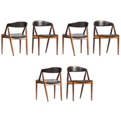 Set of Six Kai Kristiansen Dining Chairs by Schou Andersen