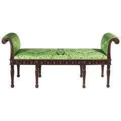 English 19th Century Robert Adam Neoclassical Window Seat or Bedroom Bench