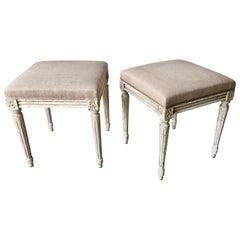 Pair of Louis XVI Style Painted Footstool