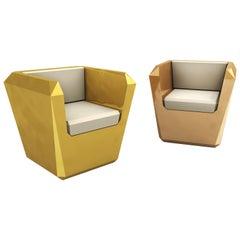 Contemporary Lingottto Armchair in Aluminium by Altreforme