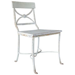 Classical Wrought Iron Chair in the English Regency Style