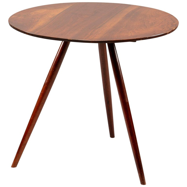 George Nakashima Splayed Leg Round Side Table