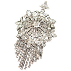 Fine Quality Victorian Diamond Target Brooch