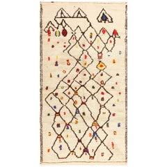 Colorful Vintage Moroccan Berber Shag Rug