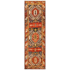 Tribal Antique Caucasian Lankoran Runner Rug