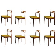 1960s Set of Eight Johannes Andersen Rosewood Dining Chairs