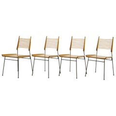 Set of Four Paul McCobb Dining Chairs Called Shovel Chairs Excellent Condition