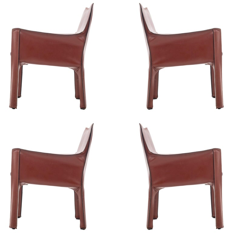 Set of Four Mario Bellini Cab Lounge Chairs