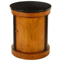 Classic Round Drum Occasional Side Table