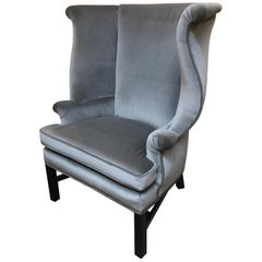 Sophisticated Large Wing Chair by Baker Furniture