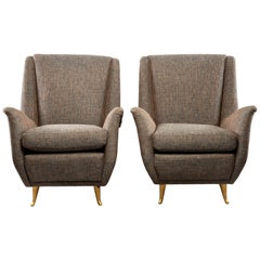 Pair of Midcentury Italian Paolo Buffo Style Armchairs
