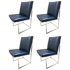 Set of four Milo Baughman Thin-Line Dining Chairs