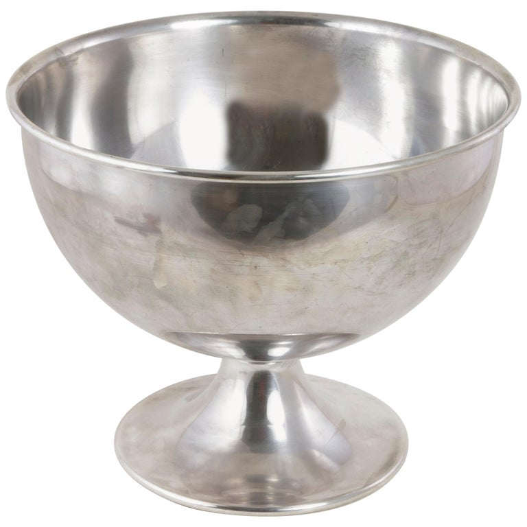 Large Midcentury Silver Plate Hotel Champagne Bucket for Four Bottles