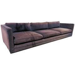 Handsome Harvey Probber Even Arm Tuxedo Sofa Mid-Century Modern
