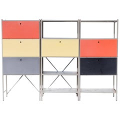 Wim Rietveld 'Model 663' Wall Unit for Gispen Set of Three