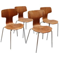 Set of Four Type 3103 Chairs by Arne Jacobsen for Fritz Hansen, 1969