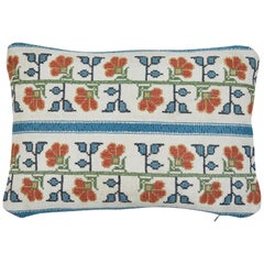 Vintage Needle Point Lumbar Pillow