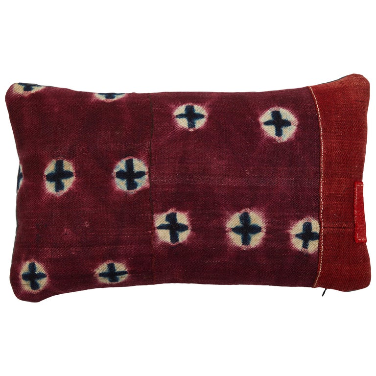 Antique Tibetian Yak Wool Pillow For Sale
