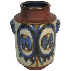 1960s Handled Soholm Pottery Planter Vase by Svend Aage Jensen, Denmark