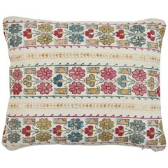 Antique Embroidery and Petit Point Greek Island Pillow