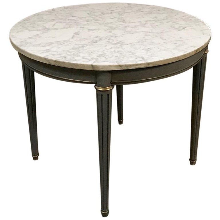 Round Painted And ParcelGilt Table With Marble Top For Sale At Stdibs - Painted round end table