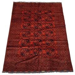 Red Afghan Turkoman Bukhara Khal Mohamadi Rug