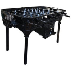 Vintage 1930 Black Foosball Table Signed La Cancha, Argentina
