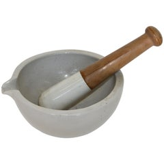Large Mortar and Pestle from France