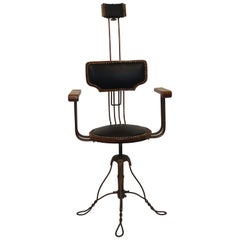 Multi Adjustable Barber's Chair, American Early 20th Century