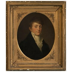 Antique Oil on Canvas Portrait of a Gentleman