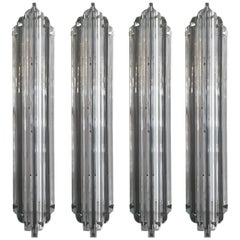 Set of Four Murano Smoky Sconces