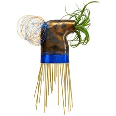 """Tish"" Living Sculpture by Monty J - Ceramic, Mixed-Media and Tillandsia"