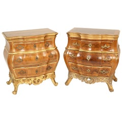 Matched Pair of Danish Louis XV Style Chests of Drawers