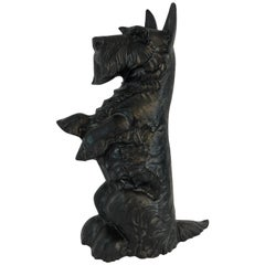 Antique Standing Scotty Cast Iron Doorstop