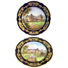 Pair of Sevres Chateau Plates