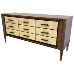 1940s Italian Art Deco Parchment Dresser