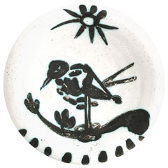 """Pablo Picasso Ceramic Bowl """"Bird in the Sun"""", circa 1952, France"""