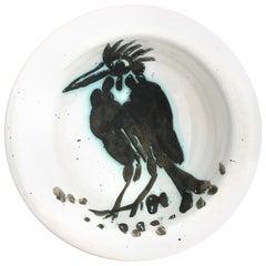 "Pablo Picasso Ceramic Bowl ""Bird with Tuft"", circa 1955, France"
