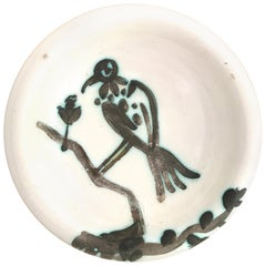 Pablo Picasso Ceramic Bowl 'Bird on a Branch', circa 1952, France