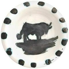 "Pablo Picasso Ceramic Bowl ""Bull"", circa 1952, France"