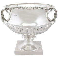 1930s Antique Sterling Silver Presentation Bowl