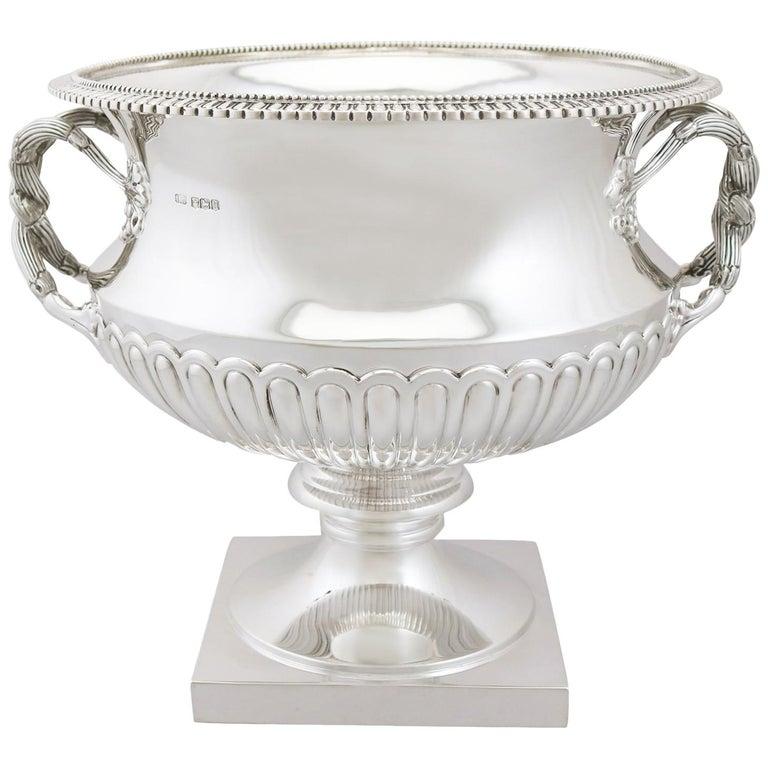 1930s Antique Sterling Silver Presentation Bowl