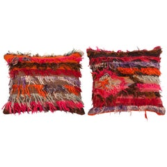 Pillow Cases Fashioned from Mid-20th Century Anatolian Angora Filikli Rugs