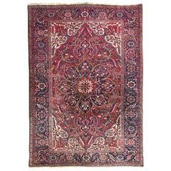 Nice Large Vintage Persian Heriz Carpet